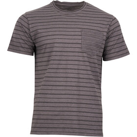 United By Blue M's Standard Stripe SS Tee Steel Grey